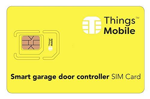IOT/M2M-SIM-Karte für SMART GARAGE DOOR CONTROLLER - Things Mobile - Things Mobile - weltweite Netzabdeckung, Mehrfachanbieternetz GSM/2G/3G/4G, ohne Fixkosten. 10 € Guthaben inklusive