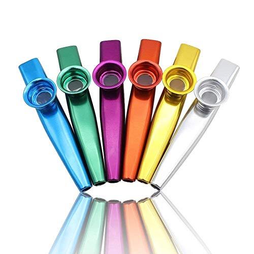 Best Buy! LovesTown Kazoos Musical Instruments,6 Different Colors of Metal Kazoos for Kids Guitar, U...