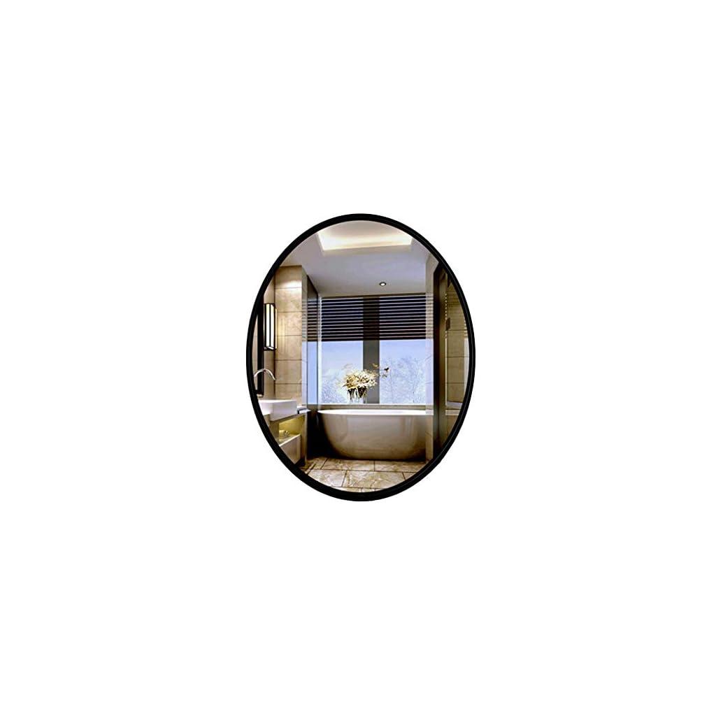 Miroir de salle de bain HD Miroirs Muraux Décoratifs Ovales 50x70cm Miroirs De Salle De Bains Modernes Miroirs De…