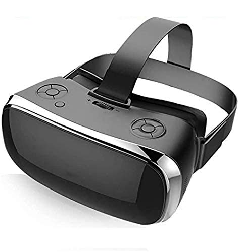 LVYE1 MRMF 3D VR Headset Virtual Reality Glasses- All-In-One Machine Soft, 3D Optical Lens Adjustable Nearsightedness with Big Clear For All 3-5.5 Inch Smartphones,Black