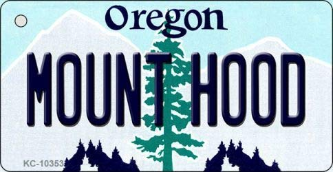 Bargain World Mount Hood Oregon State License Plate Key Chain (With Sticky Notes)