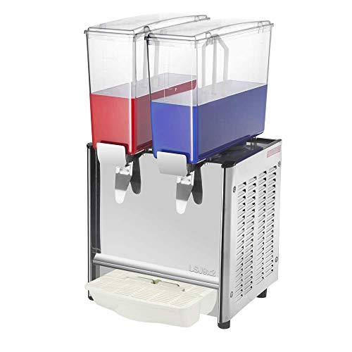 PrimeMatik - Máquina dispensadora de zumos y Bebidas frías comerciales de 9L x 2 Tanques