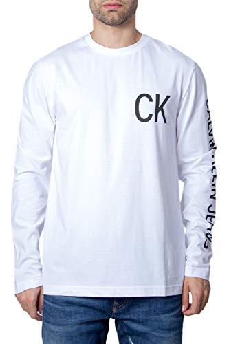 Calvin Klein J30J312487 T-Shirt Uomo Bianco XS