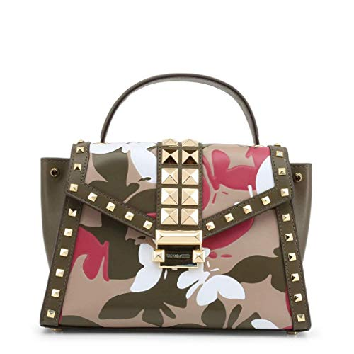 Updated in a camouflage-inspired butterfly motif and punctuated with pyramid studs, this Whitney satchel combines statement style and everyday versatility. Complete with a detachable shoulder strap, the structured top-handle silhouette is detailed wi...