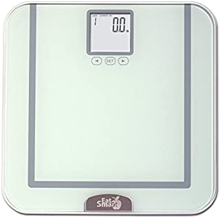 EatSmart Precision Tracker Digital Bathroom Scale w/ 400 lb. Capacity and EatSmart AccuTrack Software (Silver)