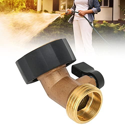Acoplamiento de válvula de cierre, diseño de codo de 45 grados G3 / 4 Conexión de rosca hembra Codo de manguera de buen rendimiento de sellado para jardín