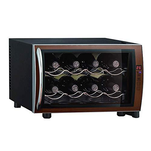 CHENMAO Pequeño termoeléctrica Enfriador de Vino Botella -8 Panel de la Pantalla eléctrica encimera Enfriador de Vino refrigerador de Bebidas Chiller Bodega Nevera con Pantalla táctil Digital