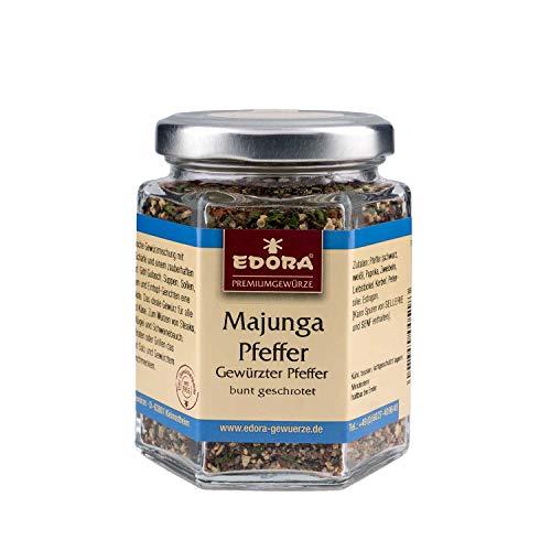 Premium Qualität Gewürz EDORA Schraubglas Majunga Pfeffer gewürzter Pfeffer bunt geschrottet 80 Gramm