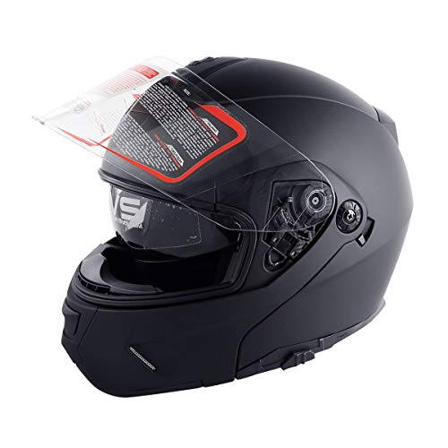 TCMT DOT Dual Visor Flip Up Motorcycle Helmet Motocross Full Face Street Bike (M)