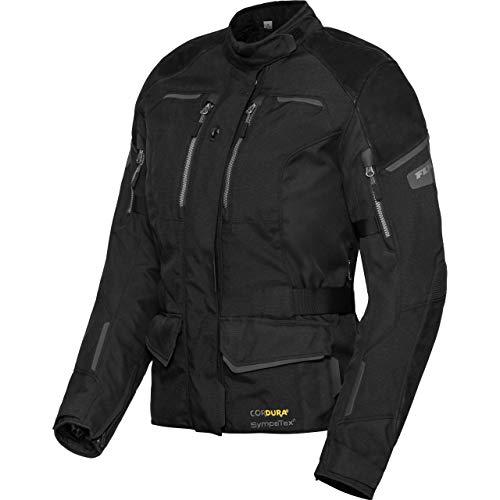FLM motorjas met beschermers motor jas Touring Dames Leder/textieljasje 4.0, Dames, Tourer, Het hele jaar door, Leder/textiel