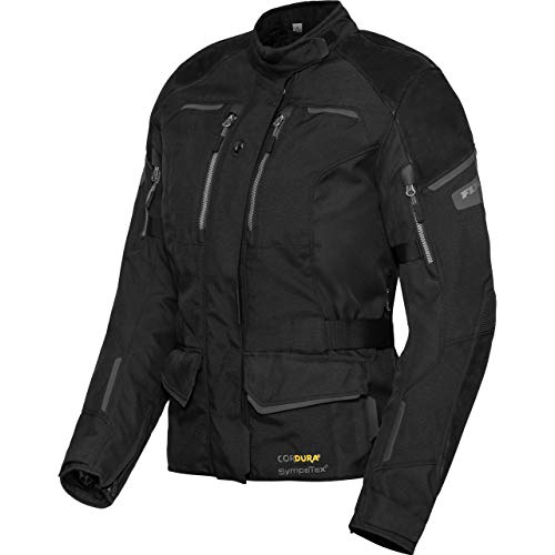 FLM Motorradjacke mit Protektoren Motorrad Jacke Touren Damen Leder-/Textiljacke 4.0 anthrazit XL, Tourer, Ganzjährig, Leder/Textil