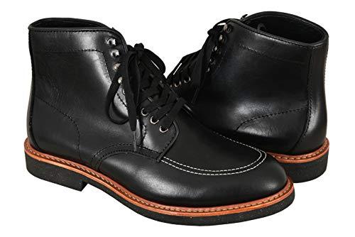 Indy Boots Indiana Jones Movie Inspired Real Leather Black High Tobillo Botas para Caminar Reproducción (EU 44)