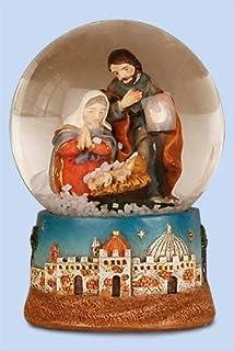 Biblegifts Sainte Famille Cr/èche de No/ël en Forme de Croix Dor/é//argent/é m/étallique daccrochage de Icon Style 15,2/x 15,2/cm Religieux Cadeau
