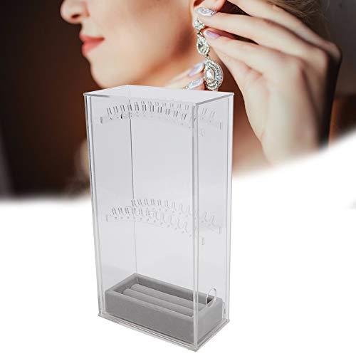 Acrilico Organizador 5 capas de caja de almacenamiento de joyas, anillo portátil collar pendiente de la suspensión la torre vitrina...