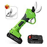 Seesii Cordless Brushless Electric Pruning Shears,2Pcs 2Ah Backup Rechargeable Lithium Battery Powered Tree Branch Pruner,30mm (1.2 Inch) Cutting Diameter,with Spare Blade