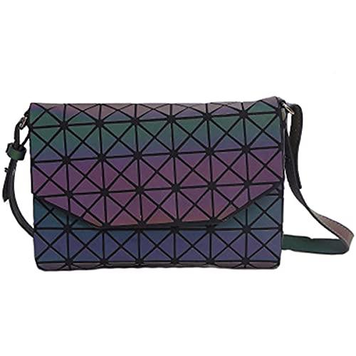 YXLYLL Luminoso Lingge Bag Geométrico Embrague Sobre Bolsa Retro Bolso de Hombro