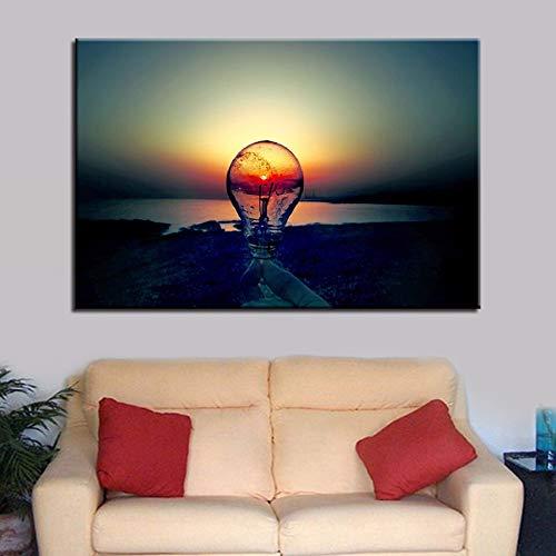Dongwall Modulare Leinwanddrucke auf der rahmenlosen Wand im Wohnzimmer Modebild 1 Stück/Lampe Malerei abstrakte Kunst Home Decoration Poster 40x60 cm
