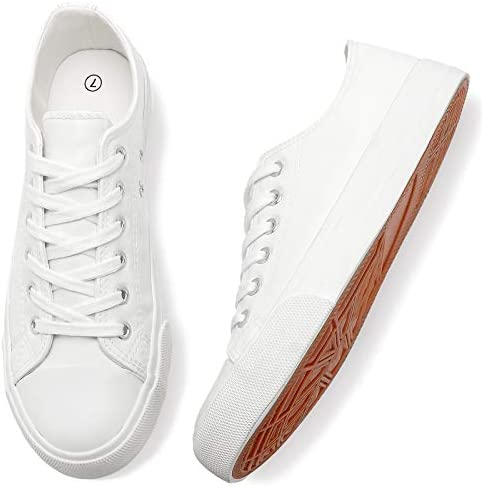 Adokoo Women s Fashion Sneakers PU Leather Casual Shoes US9 Off White product image