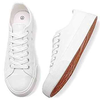 Adokoo Women s Fashion Sneakers PU Leather Casual Shoes(US9 White