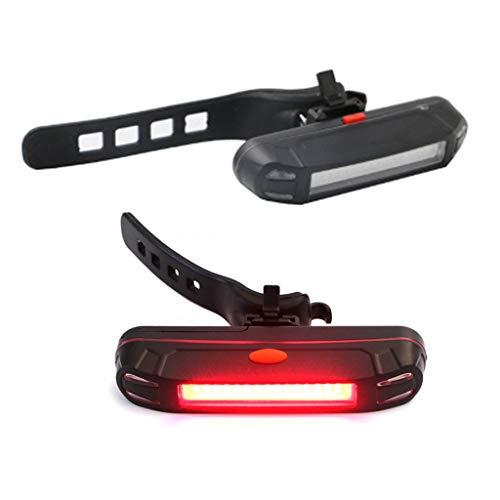 Abcidubxc Luz de bicicleta COB LED trasera para bicicleta de montaña, impermeable, luz de fondo