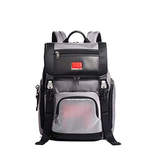 TUMI - Alpha Bravo Lark Laptop Backpack - 15 Inch Computer Bag for Men and Women - Grey/Bright Red