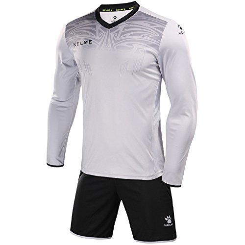 1b148272311 Kelme Men s Goalkeeper Long-Sleeve Suit Football Goalkeeper Jersey Set  Professional Soccer Brand with Protection