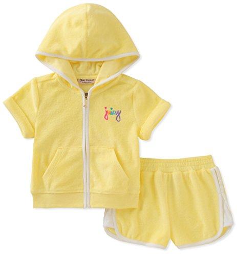 Juicy Couture Fille JCYGC-2055-56 Ensemble vestimentaire - jaune - 24 mois