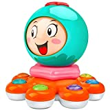HOMETTER Baby Octopus Music Toy, Toddler Electronic Learning Sensory Toy, Toddler Musical Toy for 18 - 24 Month Old, Perfect Toys for 2 Year Old Boys and Girls (Octopus Music Toy)