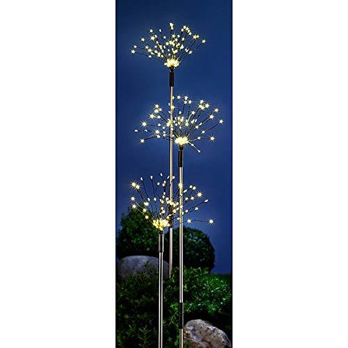 LED-Gartenstecker Magic | 3er-Set für Garten & Co | traumhafte Leuchteffekte | mit Erdspieß | 86 cm Höhe