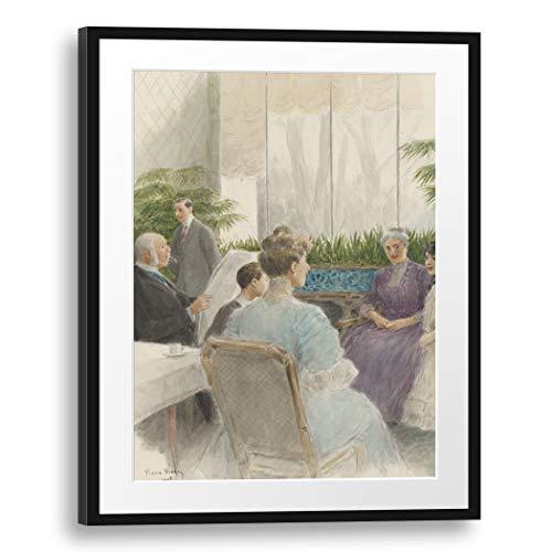 Printed Paintings Passepartout (60x80cm): Marie-Louis-Pierre Vidal - Monumento du Costume. La Vie Mondaine a Paris. 70 aquarelles (.) pour Mr. Henri Béraldi, celebre bibliófilo.