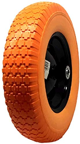 National Standard Universal Fit, Flat Free Wheelbarrow Tire (Orange)