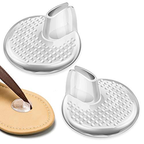 Zehenschutz Kissen für Flip Flops (3 Paar), PAMIYO Klar Silikon Gel Sandale Zehentrenner Zehensandale Sohle für Flip- Flop