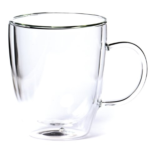 Shamila® doppelwandiges Teeglas 0,3l mit Henkel