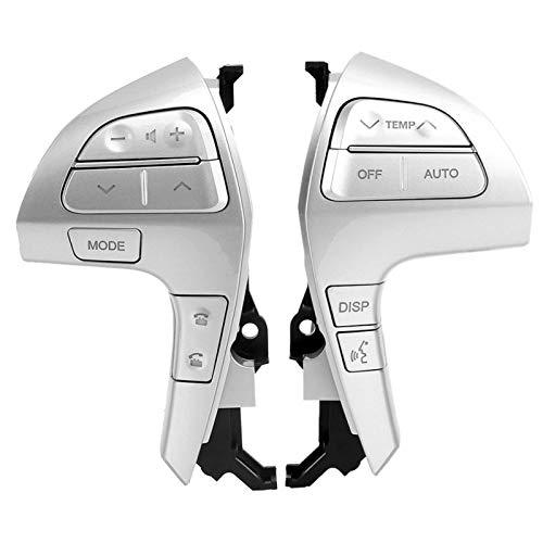Botones de control de volante multifunción con interruptor de volumen de audio Bluetooth para Camry/Highlander(Plata)