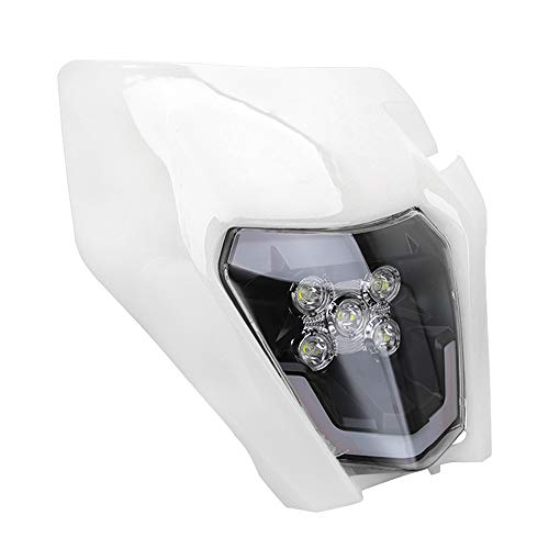 Faro per moto LED universale carena faro per K.T.M EXC250 SX250 SXF250 EXC450 SX350 SXF450 EXC525 640LC4 Dirt Bike Motocross Enduro Supermoto-bianco