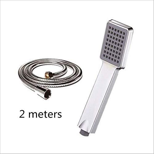 ABS Kunststoff Badezimmer Handheld Rund Badewanne Dusche Zubehör (Silber)
