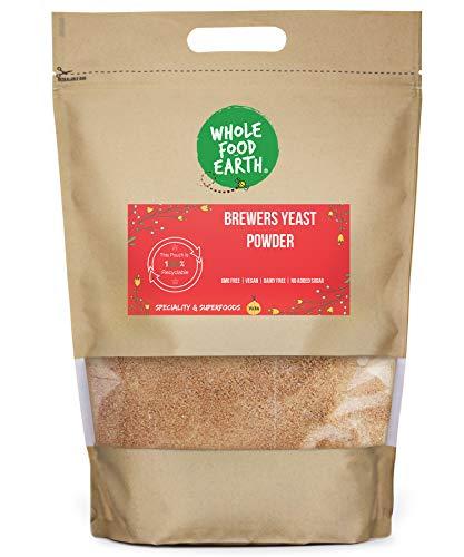 Wholefood Earth Brewers Yeast Powder GMO Free - Vegan - Dairy Free - No Added Sugar, 250 g