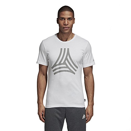 adidas Camiseta de fútbol para Hombre, diseño de Tango, Color Blanco, XL