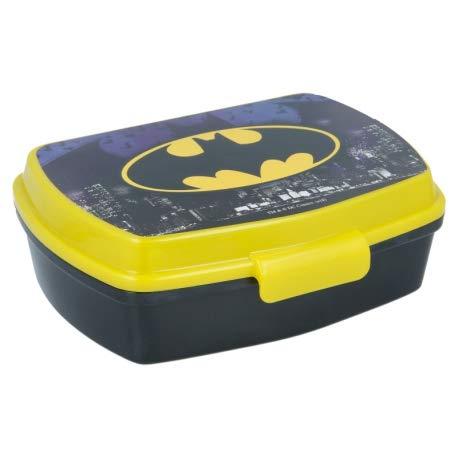 ILS I LOVE SHOPPING Contenitore Termico Porta merenda Scatola Sandwich Box per Bambini (Batman)