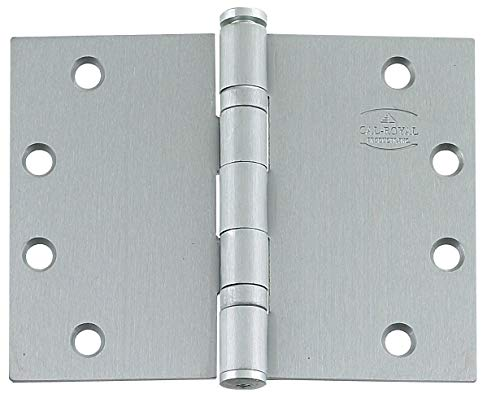 Wide Throw Hinge - Heavy Duty Stainless Steel, 4.5 Inch x 6 Inch, Ball Bearing, Highly Rust Resistant, 2 Pack
