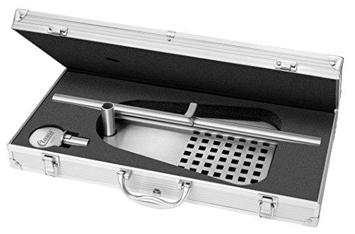 Clauss Aufbewahrungskoffer für Standard 5 L Fässer, Edelstahl, Fuß Stahl schwarz lackiert Bierfasshalter, 47 x 31 x 20.5 cm