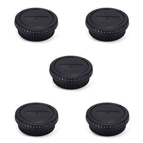 Rear Lens Cap & Body Cap Cover Set for Canon EF EF-S Mount Camera 90D 80D 77D 70D T8i T7 T7i T6 T6i T5i SL3 SL2 7D Mark II 6D Mark II 5D Mark IV 1Dx Mark III etc -5 Packs