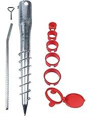 Meister Indraaibodemhulzenset 8-delig - Ø 65 mm x 565 mm - voor buizen met Ø 26-64 mm - met 5 verloophulzen - thermisch verzinkt/inschroefhuls voor parasol/indraaihuls / 9979400