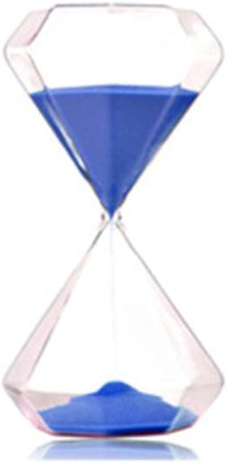 XIONGHAIZI Diamond multicolor timer hourglass, ornaments Valentine's Day creative decorations home accessories graduation gift, 30 minutes green Hourglass, ( color   30 minutes bluee )