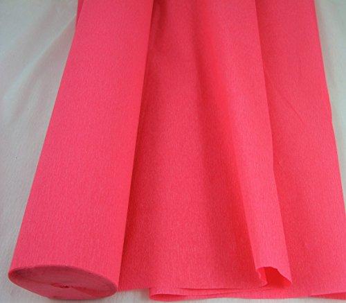 1–Jumbo, color salmón 26m Crepe rollo de papel. 50cm x 26m de largo. Muchos usos como decoraciones, herramientas de marketing, gran favorito con escuelas y la artesanía