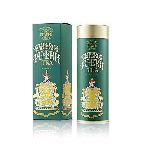 TWG Tea Emperor Pu Erh Miscela di Tè Nero in Foglia, in un'Elegante Scatola di Latta Haute Couture, Confezione Regalo da 100 g