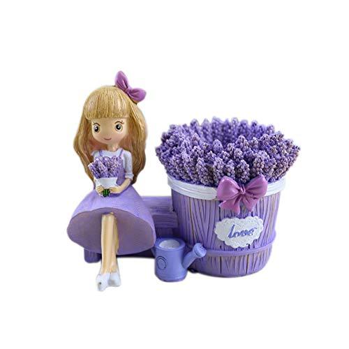 msyou Süße lápiz caja Lavanda Resina Bolígrafos creativos Patria artesanía decoración NUEVA exclusiva personalidad pequeño regalo para chica