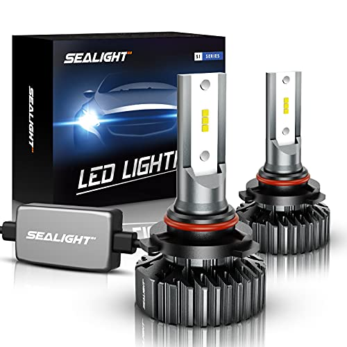 SEALIGHT Scoparc S1 9006/HB4 LED Headlight Bulbs, 14000LM 12xCSP Chips LED Headlights Conversion Kit Low Beam/Fog light bulb 6000K White, Pack of 2