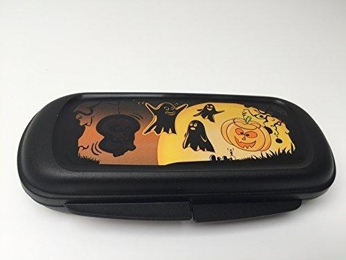 Tupperware Tupperware kleine schwarze Dose im Halloween Style Pausendose Box Brillenetui für Kinder