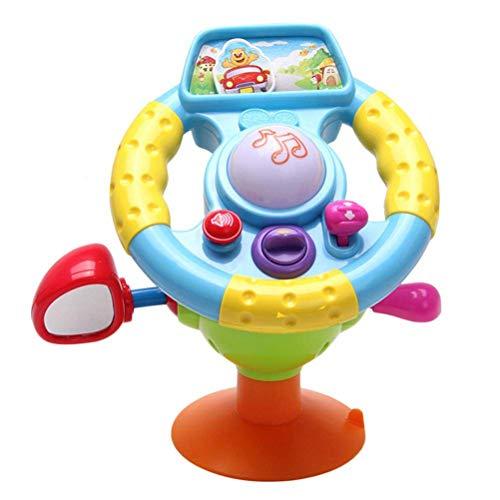 Kinder Lenkrad Spielzeug Mini Simulation Fahrspielzeug mit Music Light Mirror